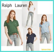 Ralph Lauren Casual Style Plain Short Sleeves Polo Shirts