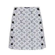 Louis Vuitton Short Monogram Blended Fabrics Plain Cotton Skirts