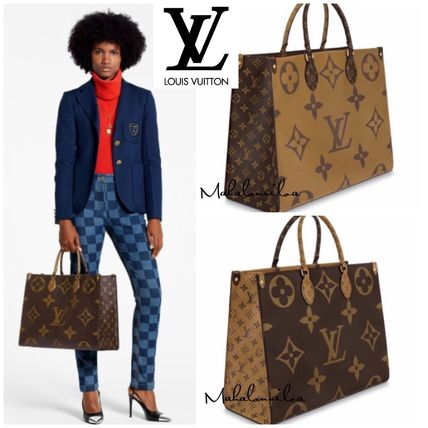 Monogram A4 2WAY Leather Totes