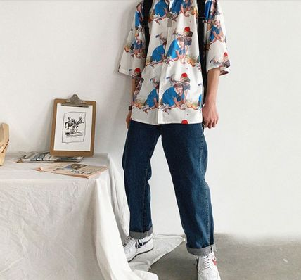 Shirts Street Style Cropped Oversized Shirts 5