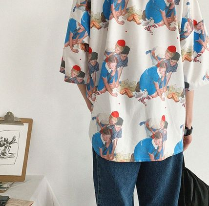 Shirts Street Style Cropped Oversized Shirts 13
