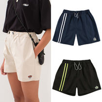 MAINBOOTH Short Casual Style Unisex Street Style Collaboration Plain