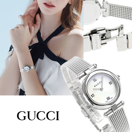 GUCCI Round Formal Style  Casual Style Quartz Watches