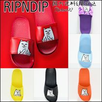 RIPNDIP Plain Toe Rubber Sole Casual Style Shower Shoes Flat Sandals