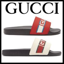 GUCCI Stripes Unisex Shower Shoes Shower Sandals
