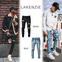 LAKENZIE Other Check Patterns Denim Street Style Skinny Fit Pants