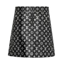 Louis Vuitton MONOGRAM Short Monogram Leather Skirts