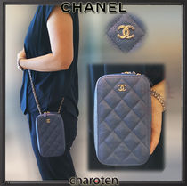 CHANEL TIMELESS CLASSICS Calfskin 2WAY Chain Plain Elegant Style Shoulder Bags