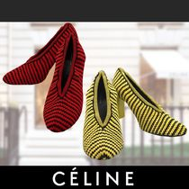 CELINE Stripes Casual Style Blended Fabrics Street Style