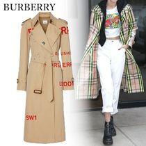 Burberry Casual Style Unisex Street Style Long Trench Coats
