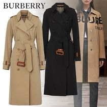 Burberry Other Check Patterns Unisex Plain Long Elegant Style