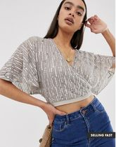 ASOS Casual Style Plain Puff Sleeves Shirts & Blouses