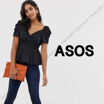 ASOS Casual Style Puffed Sleeves Plain Shirts & Blouses