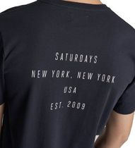 SATURDAYS SURF NYC More T-Shirts Unisex Street Style Plain Cotton Short Sleeves Logo 4