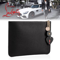 Christian Louboutin Calfskin Street Style Bag in Bag Plain Clutches