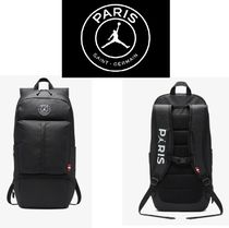 Nike AIR JORDAN Street Style Collaboration Plain Backpacks