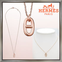 HERMES Chaine dAncre Unisex 18K Gold Necklaces & Chokers