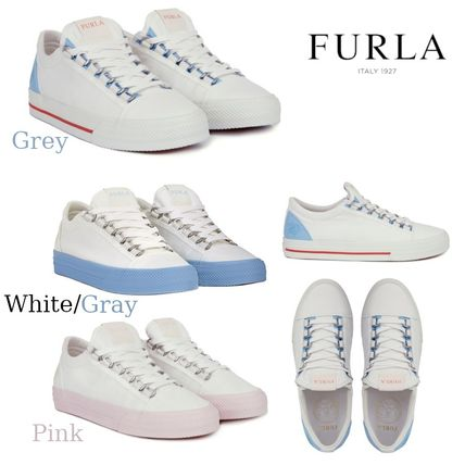 Round Toe Rubber Sole Lace-up Casual Style Leather