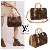 Louis Vuitton SPEEDY Monogram Unisex Canvas Blended Fabrics 2WAY Boston & Duffles