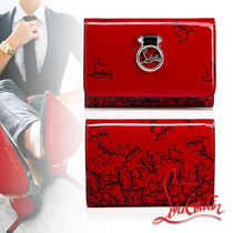 Christian Louboutin Rubylou Calfskin Street Style Folding Wallets