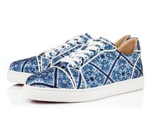 Christian Louboutin Rubber Sole Lace-up Casual Style Unisex Blended Fabrics