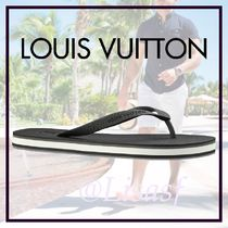 Louis Vuitton Blended Fabrics Street Style Bi-color Sport Sandals