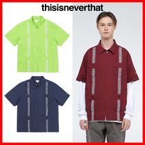 thisisneverthat Casual Style Unisex Street Style Shirts & Blouses