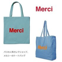 merci Casual Style Unisex A4 Totes