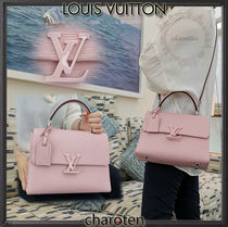 Louis Vuitton EPI Calfskin 2WAY Bi-color Plain Elegant Style Handbags