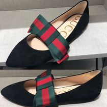 GUCCI Suede Elegant Style Slip-On Shoes