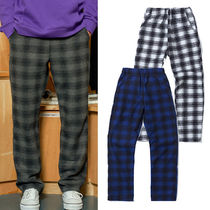 ona Printed Pants Other Check Patterns Unisex Wool Street Style