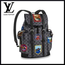 Louis Vuitton EPI Unisex Street Style Plain Leather Backpacks