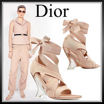 Christian Dior Star Open Toe Casual Style Street Style Plain