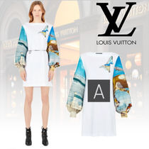 Louis Vuitton Dolman Sleeves Cotton Dresses