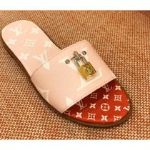 Louis Vuitton MONOGRAM Monogram Open Toe Blended Fabrics Bi-color Elegant Style