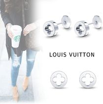 Louis Vuitton MONOGRAM PIERCINGS silver free piercings