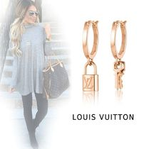 Louis Vuitton PADLOCK&KEY EARRINGS pink gold free earrings