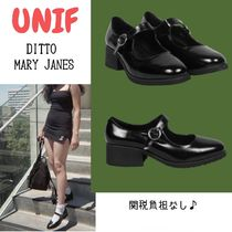 UNIF Clothing Enamel Street Style Plain Ballet Shoes
