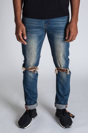 Tapered Pants Denim Street Style Jeans