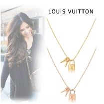 Louis Vuitton PADLOCK&KEY NECKLACE yellow gold, pink gold free necklace