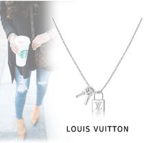 Louis Vuitton PADLOCK&KEY NECKLACE silver free necklace