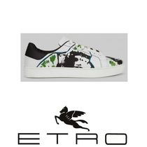 ETRO Paisley Street Style Other Animal Patterns Leather Sneakers