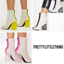 PrettyLittleThing Casual Style Street Style Block Heels Ankle & Booties Boots