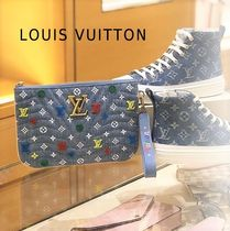 Louis Vuitton 2019-20AW COLORFUL DENIM POUCH denim one size pochette