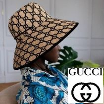 GUCCI Bucket Hats Straw Hats