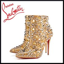 Christian Louboutin So Kate Studded Leather Pin Heels Ankle & Booties Boots