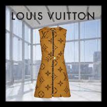 Louis Vuitton MONOGRAM Short Monogram A-line Sleeveless Cotton Dresses