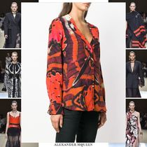 alexander mcqueen Silk Long Sleeves Medium Elegant Style Shirts & Blouses
