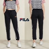 FILA Other Check Patterns Casual Style Sweat Street Style Long