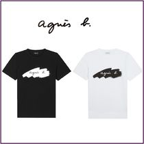 Agnes b Street Style Cotton Short Sleeves T-Shirts